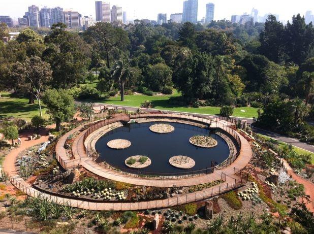 Guilfoyle's Volcano, Royal Botanic Gardens in Melbourne