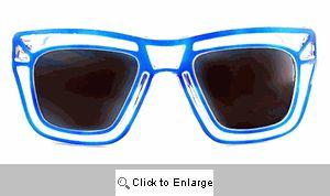 Loud & Clear Wayfarer Sunglasses - 297 Blue