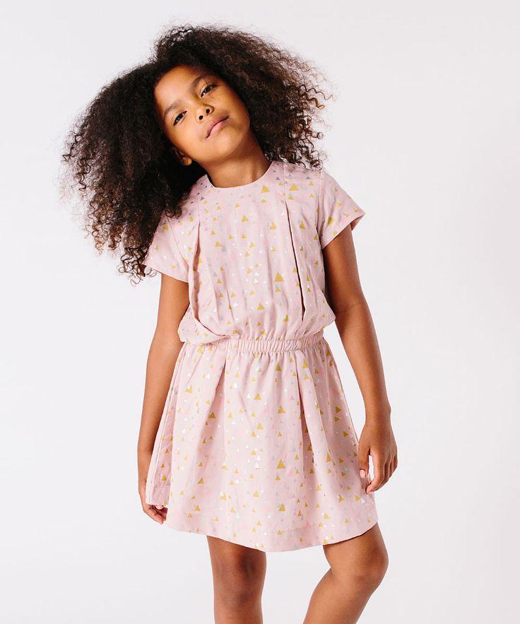 Pink Triangle Drop-Waist Dress - Toddler & Girls