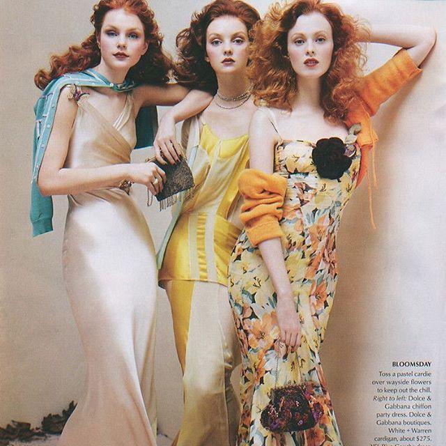 Jessica Stam, Heather Marks & Karen Elson by Steven Meisel for Vogue US June 2004.