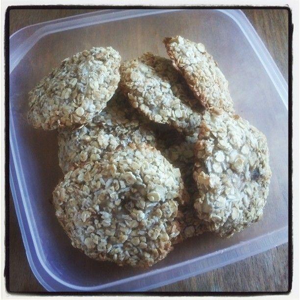 Suikervrije koekjes - haver, banaan & kokosschilfers