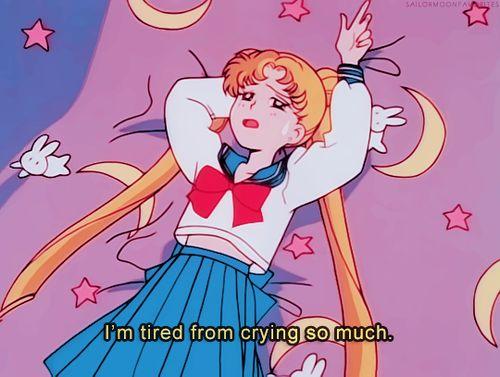 Imagen de sailor moon, anime, and sad
