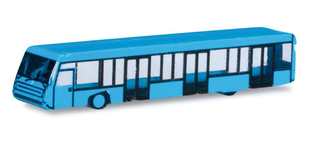 Herpa Wings 1/500 Scale Amsterdam Airport Bus Set x 4 4 Piece Set in Light Blue Color