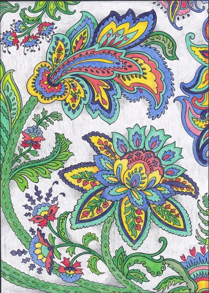 LeAnn Kershner (18+ division) Paisley Designs Coloring Book