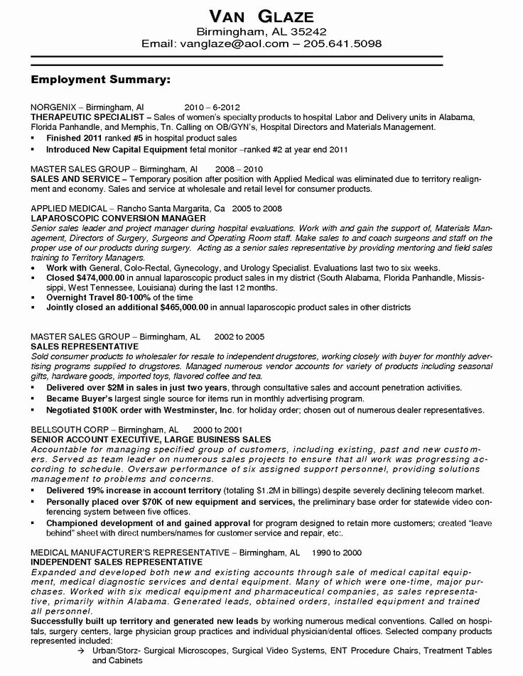 Medical Sales Resume Example Elegant 9 10 Resume Sample