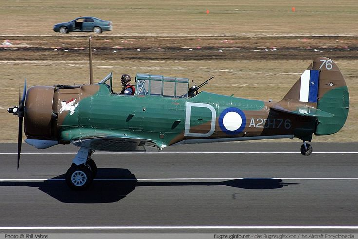 Commonwealth CA-3 Wirraway Mk II, VH-WWY. Another indigenous Australian design based on the Harvard/Yale/Texan series. Mainly used as a trainer, like many aircraft at time pressed into service in other roles when needs demanded & resources short. Another preserved flyer in the picture.