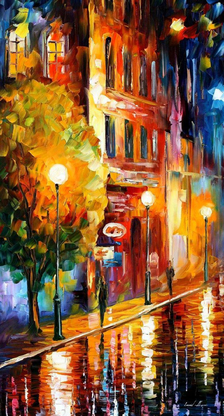 MYSTERIOUS NIGHT by Leonid Afremov #art #painting #gift #design #fineart #Impressionism #homedecor #wallhanging #LeonidAfremov #AfremovArtStudio #pictures