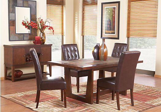 Shop for a brad 5 pc diningroom at rooms to go find for Find living room furniture