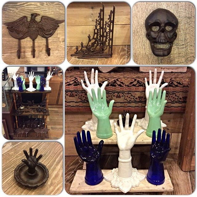WEBSTA @ jinxedstore - 💥We just got restocked💥 on all your favorite home accessories! Every Jinxed location has been freshly replenished with an assortment of cast iron wall hooks, glass and cast iron hands for jewelry, ✋catch all dishes, 💀bottle openers and more! These make great gifts, or perfect accompaniments to your vintage pieces at home.😻 Prices range from $6-$24. Check out your nearest Jinxed store to buy! 🤗 We're open every day, 11-7!