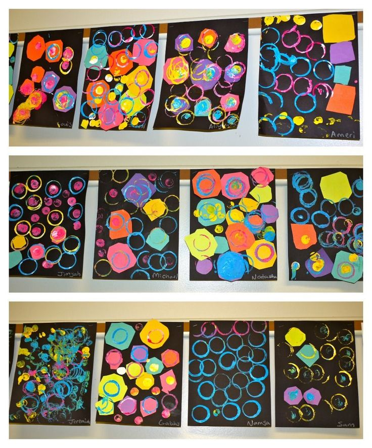 kindergarten shape art | inspired by this art project on art is basic