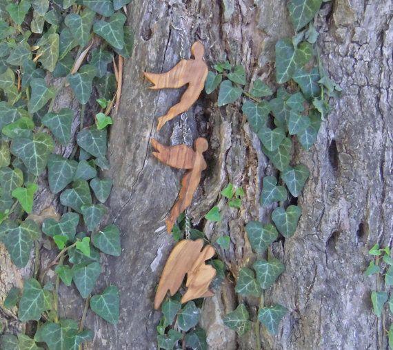 Olive wood Angel mobile, hand made from Ellenisworkshop by DaWanda.com