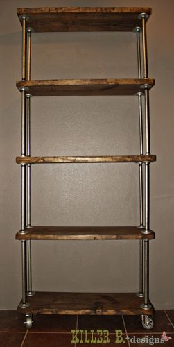 diy shelving unit... Great links for discount pipe and flanges on this page.