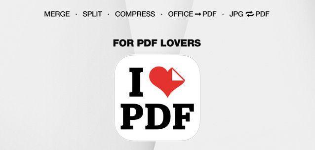 iLovePDF - ottima suite per gestire i PDF su Android e iPhone