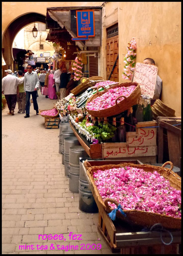 Rose Festival.The medina of Fes has a maze of streets. You will find fruit stalls, craft workshops, colorful souks and masterpieces of Arab-Andalusian architecture. Why not join us on one of our Morocco trips? www.asilahventures.com