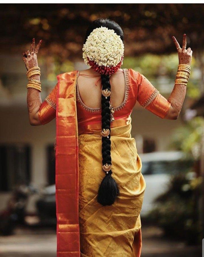 Simple Yet Nice One Indian Bridal Hairstyles Indian Bride Hairstyle South Indian Bride Hairstyle