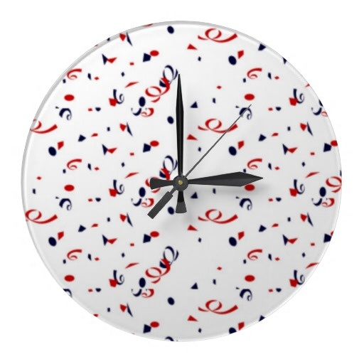 Patriot Confetti Wall Clocks Decor For the Home Pinterest