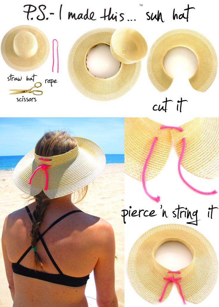 i need this beach hat DIY