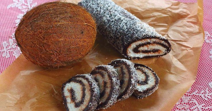 Hozzávalók:     a barna részhez:   15 dkg datolya   15 dkg darált dió (vagy más csonthéjas)   2 dkg holland kakaó     a fehér részhez: ...