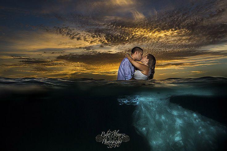 Post boda....entre el mar y el cielo.