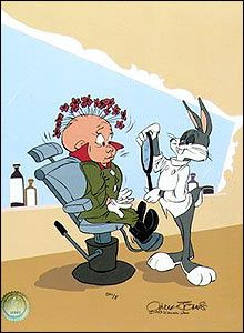 Willkommen in meinem Geschäft. Lass mich deinen Wischmopp schneiden. Lass mich deine Ernte rasieren, Daaaain-ti-ly!