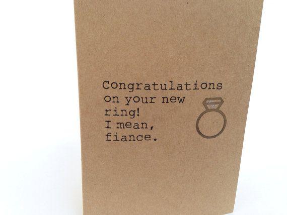 14 best ENGAGEMENT images on Pinterest Engagement cards - engagement card template