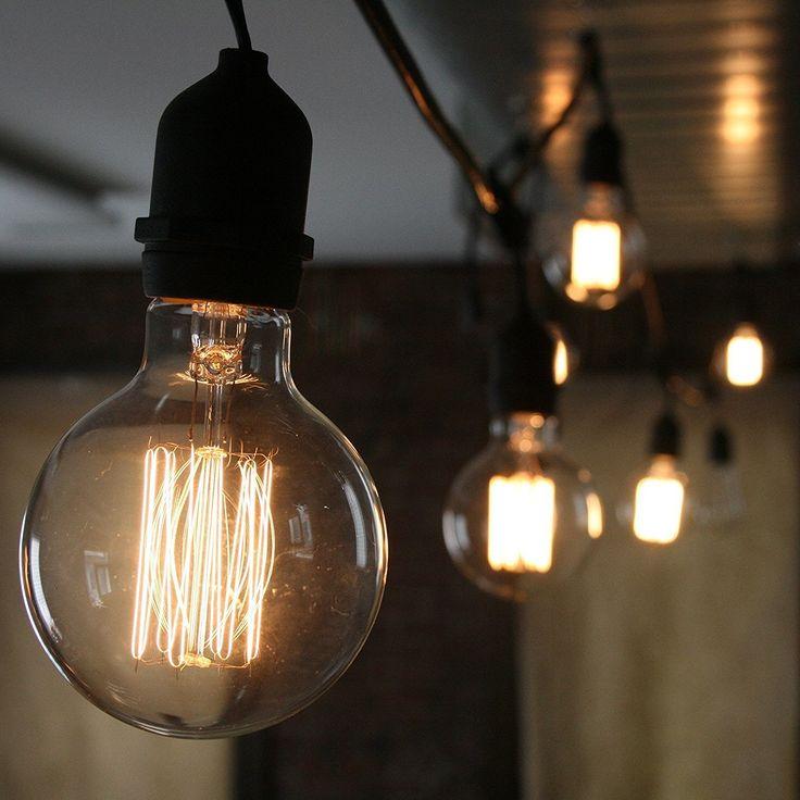 CMYK Vintage Grande lampadina Globo con gabbia di luce filamento della lampadina 40W (vecchio Edison) tappo a vite E27: Amazon.it: Illuminazione