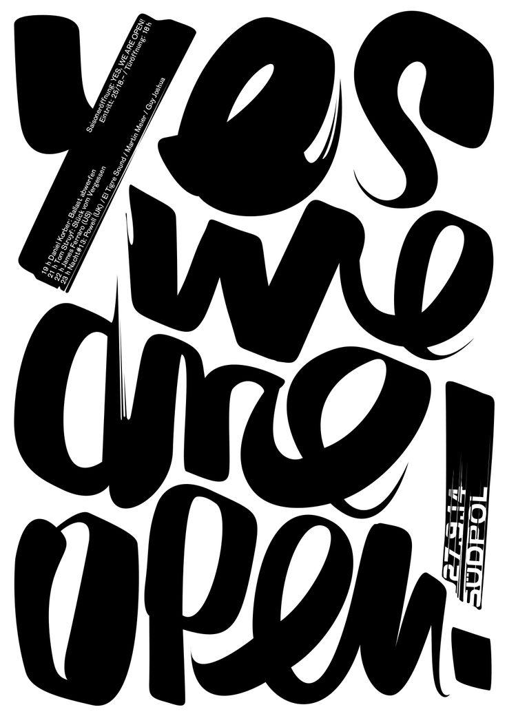 Yes we are open! - Grafik: Felix Pfäffli _ #Poster #Affiche #GraphicDesign