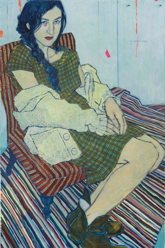 "#les petits fous#adorent#Hope Gangloff - Catherine Despont, 2012. Acrylic/canvas, 72"" by 48""."