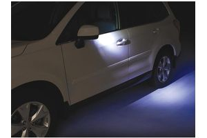 would need these for a 2010 forester.. Auto-Dimming Mirror with Approach Light. Enhance your Auto-Dimming Mirror experience by adding the Exterior Auto-Dimming Mirrors with Approach Light.* Open or unlock the doors with the keyless entry system and LED lights located behind the Subaru logo in each exterior mirror help to light the way. Light is cast down all four doors and onto the ground next to and towards the rear of the vehicle. $199.95 each. #parts #accessories
