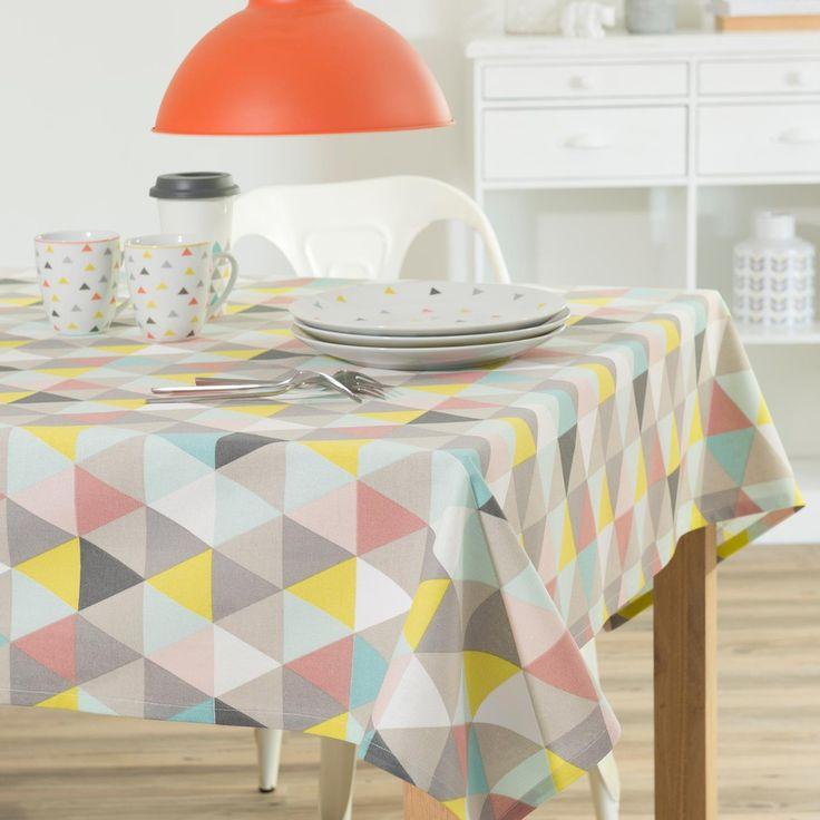 Mantel de algodón multicolor 150 × 250 cm LUCIA   Maisons du Monde