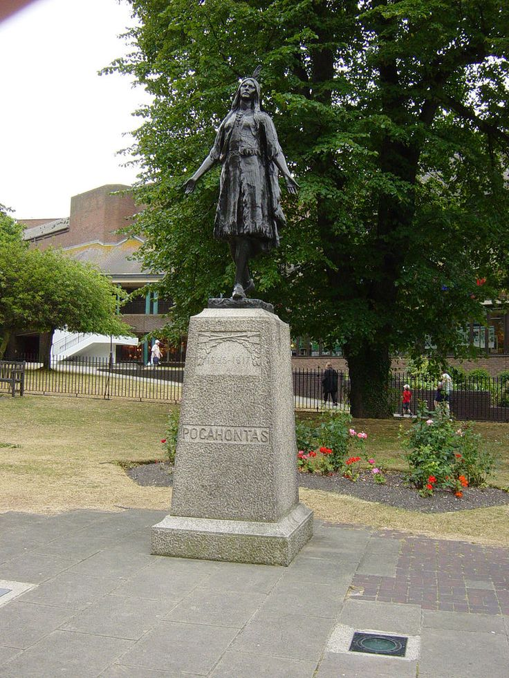 Pocahontas - Gravesend near London; too bad she died so far away from her native land