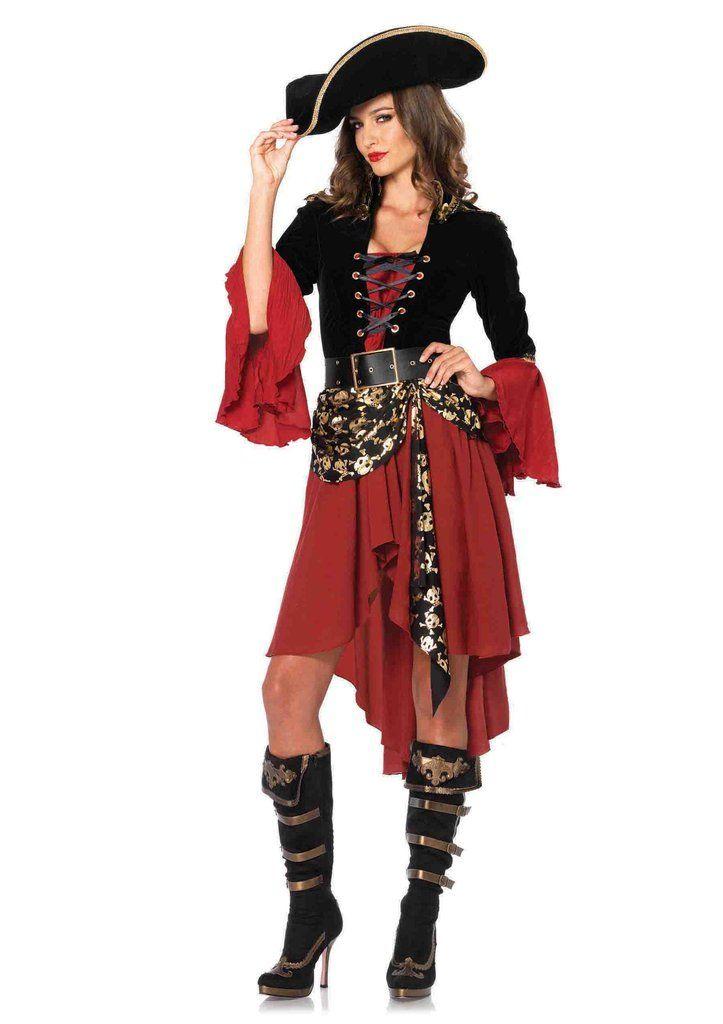 Women's 2PC. Cruel Seas Captain Costume