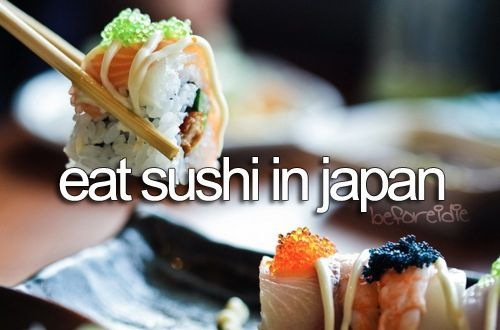 I love sushi stateside, so I can only imagine how good it is in Japan.