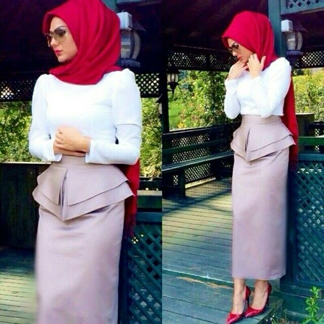 Red | Hijab Chamber #Hijab #Fashion #Modest