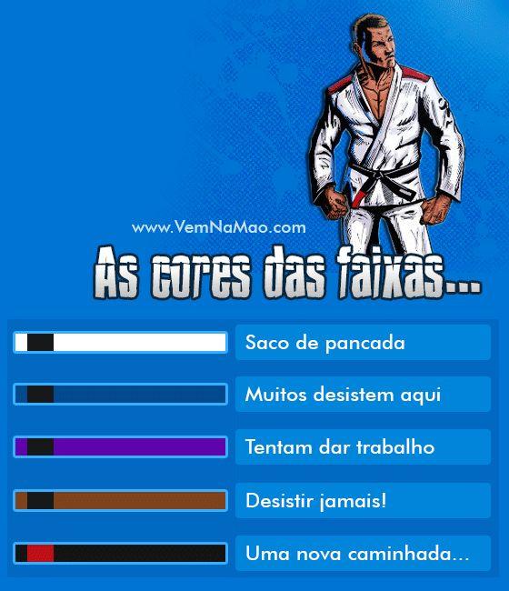 As cores das faixas no Jiu-Jitsu - Vem Na Mão | Uma porrada de notícias sobre o mundo MMA e um pouco mais