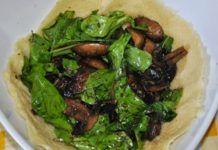 Φωλιά παρμεζάνας με ρόκα και μανιτάρια φούρνου(2 μονάδες)