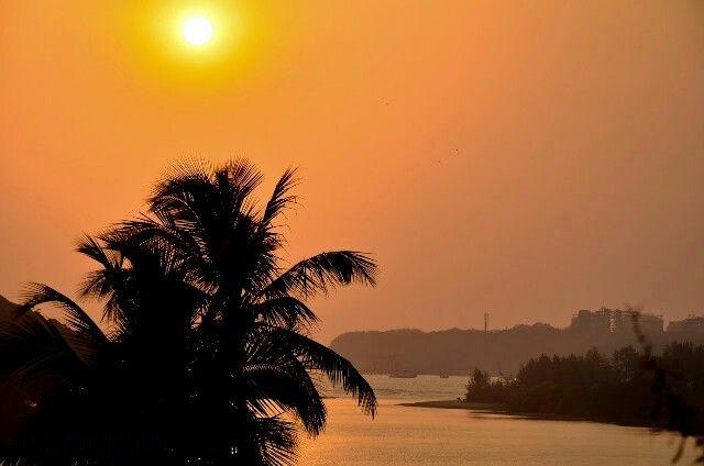 Sunset, Ratnagari, India.