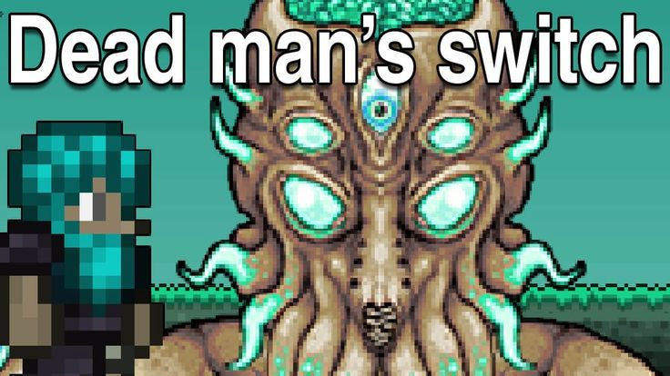 Terraria Youtuber telling us to back up a key for his dead man's switch