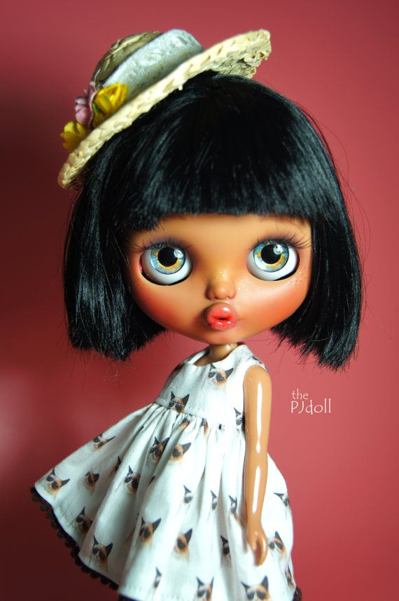 thePJdoll Sally Custom Blythe Doll/tan girl/OOAK