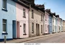 Image result for pastel painted pebble dash