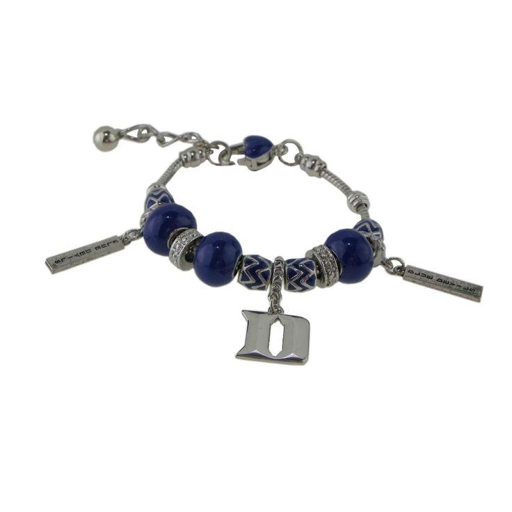 Duke University Pandora Style Charm Bracelet