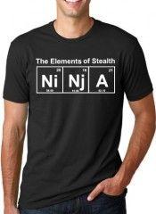 Element of Stealth (Ni-Nj-A) T-Shirt Funny Ninja Science Shirt
