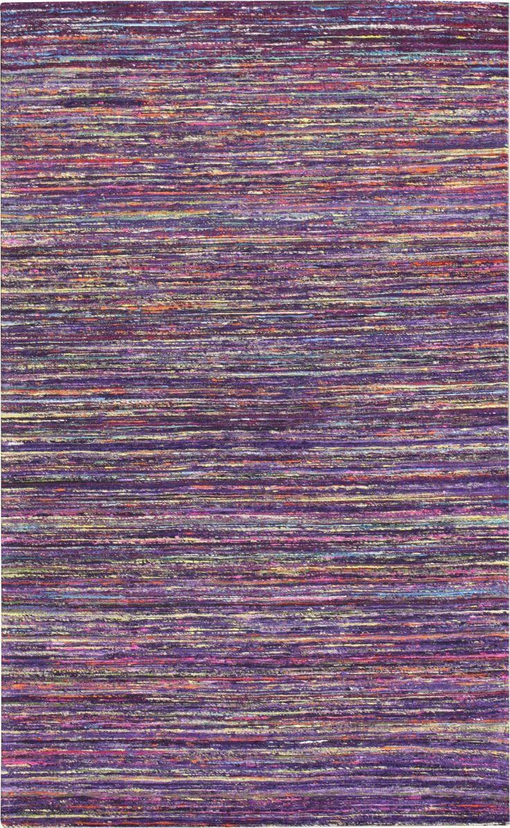 Rainbow Dark Purple Area Rug