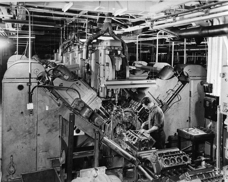 General motors engine assembly line worker history of for History of general motors