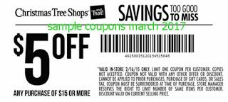 free Christmas Tree Shops coupons march 2017