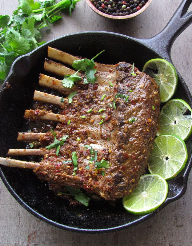 Spicy Lamb Chops with fresh lime juice, black pepper and lots of indian spices!