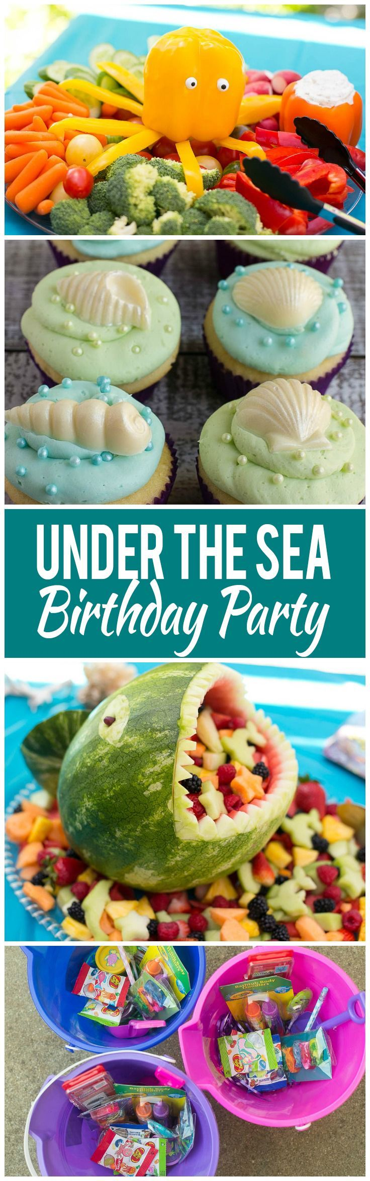 A complete guide on how to throw an under the sea birthday party with an under the sea theme, including ideas for food, activities and party favors.