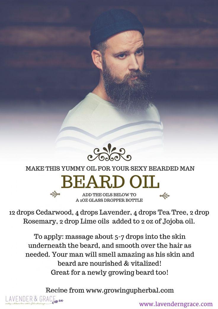 DIY Beard balm. Essential oils for your man's fall beard. www.lavenderngrace.com