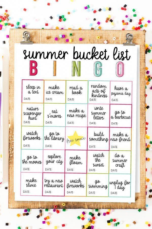 Summer Bucket List Bingo Summerschedule In 2020 Fun Summer