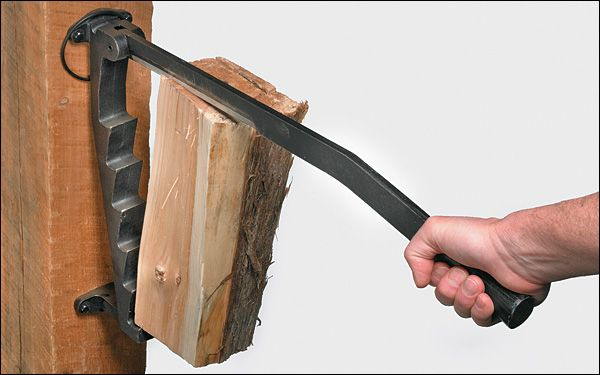 "Softwood Kindling Splitter - ""wood"" be cool for the fireplace area"